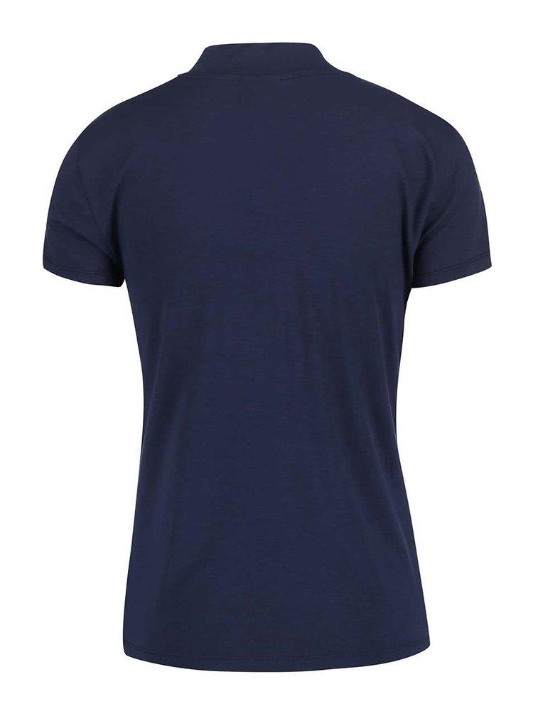 Tmavomodré tričko so stojatým golierom VERO MODA Bellis