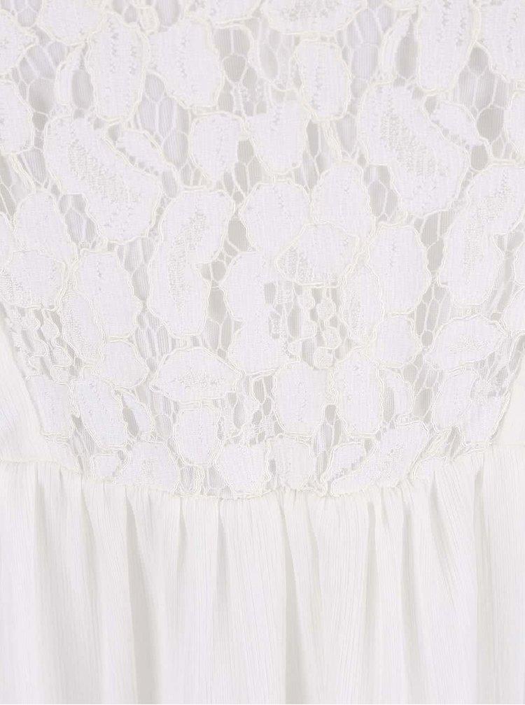 Krémové šaty na ramínka VERO MODA Sucre