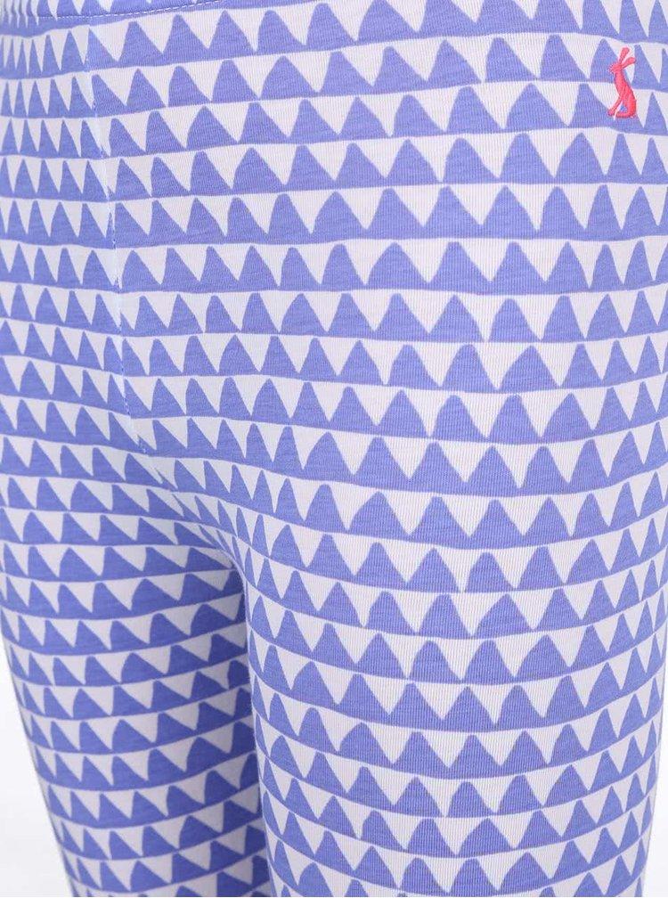Colanți Tom Joule Deedee albaștri cu model zig zag