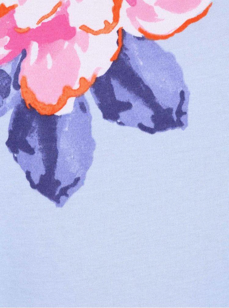 Modré holčičí tílko s pruhy a květy Tom Joule Iris