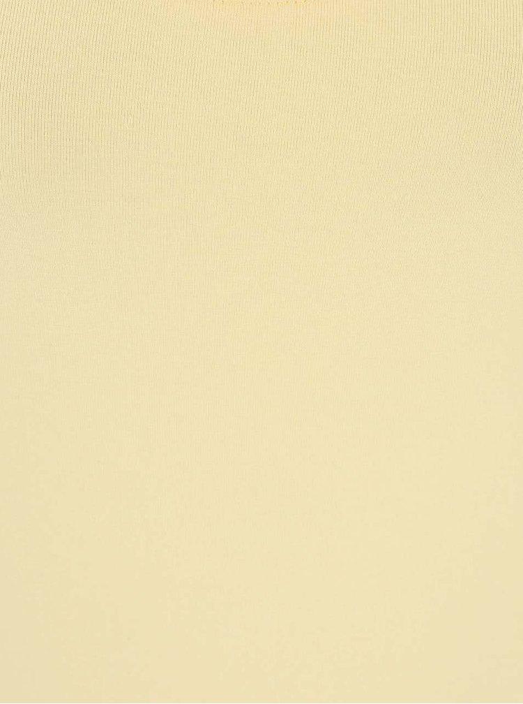 Žluté maxišaty s rozparkem VILA Honesty New