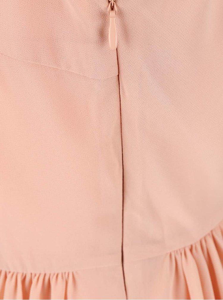 Meruňkové šaty s ozdobnými zády VILA Leopra
