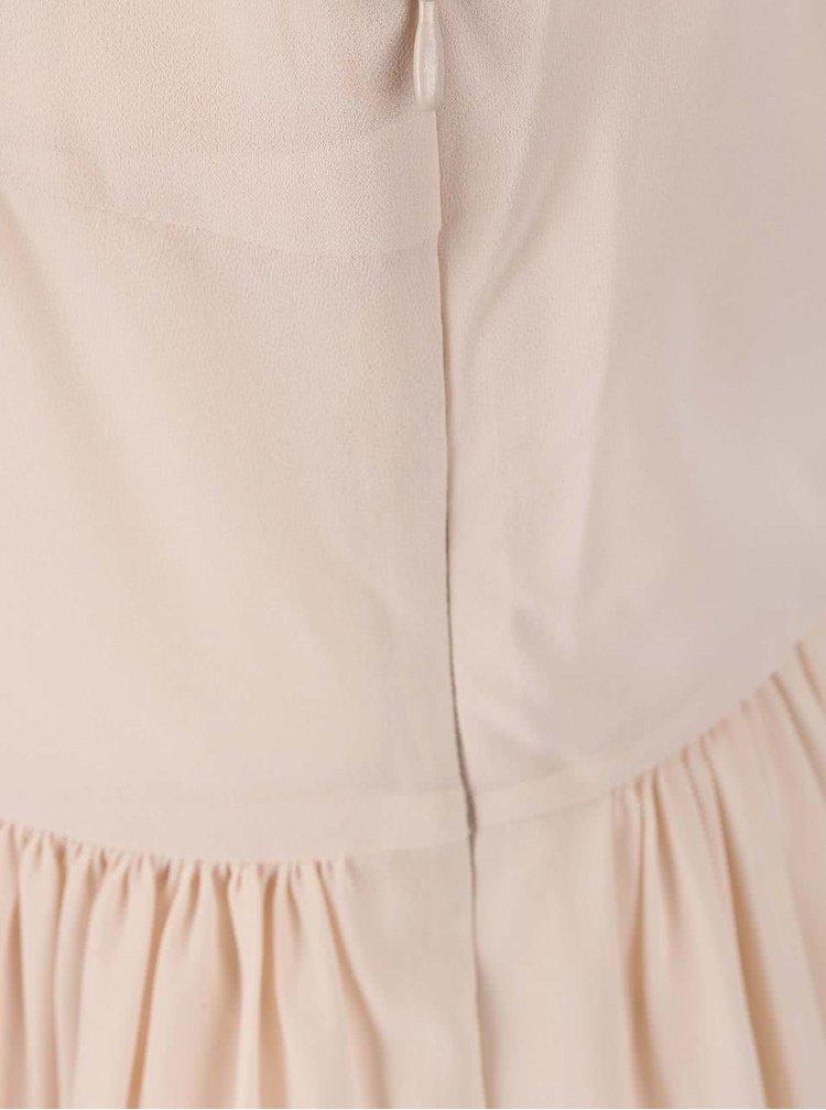 Krémové šaty s ozdobným chrbtom VILA Leopra