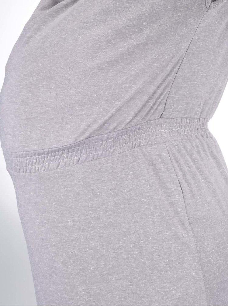 Sivé žihané tehotenské/dojčiace šaty Mama.licious Twisty