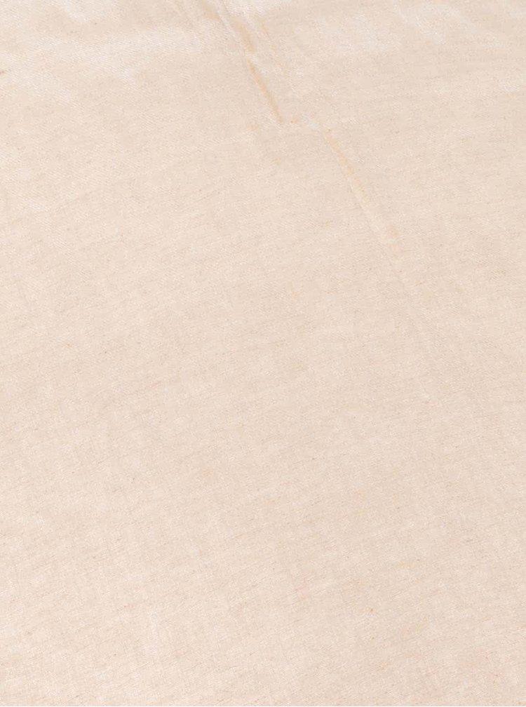 Béžový lněný šátek YAYA