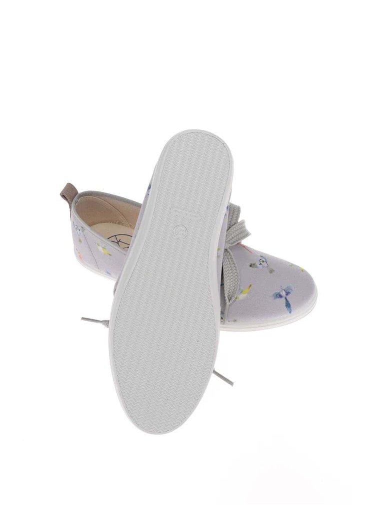 Sivé dámske tenisky s ozdobnou mašľou OJJU Denia