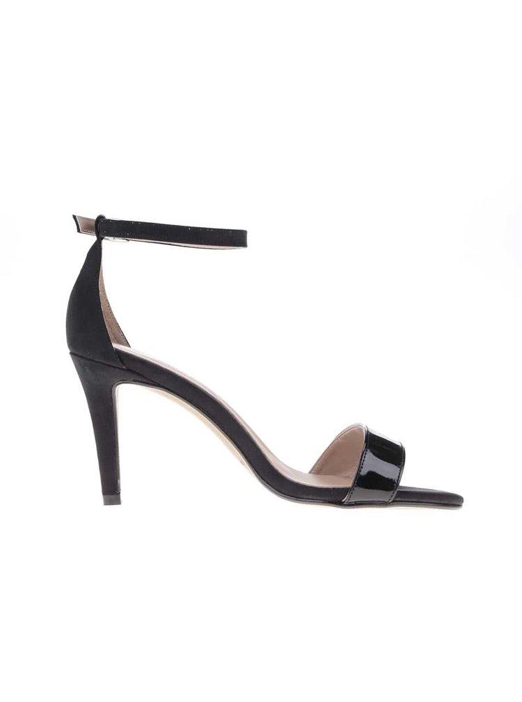 Černé sandálky na podpatku OJJU