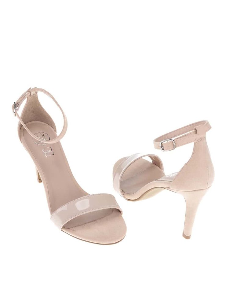 Béžové sandálky na podpätku OJJU