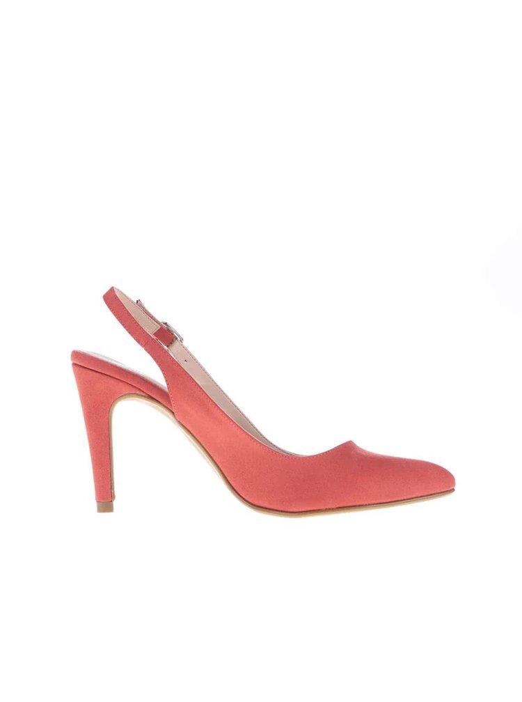 Pantofi OJJU rosii cu toc decupati