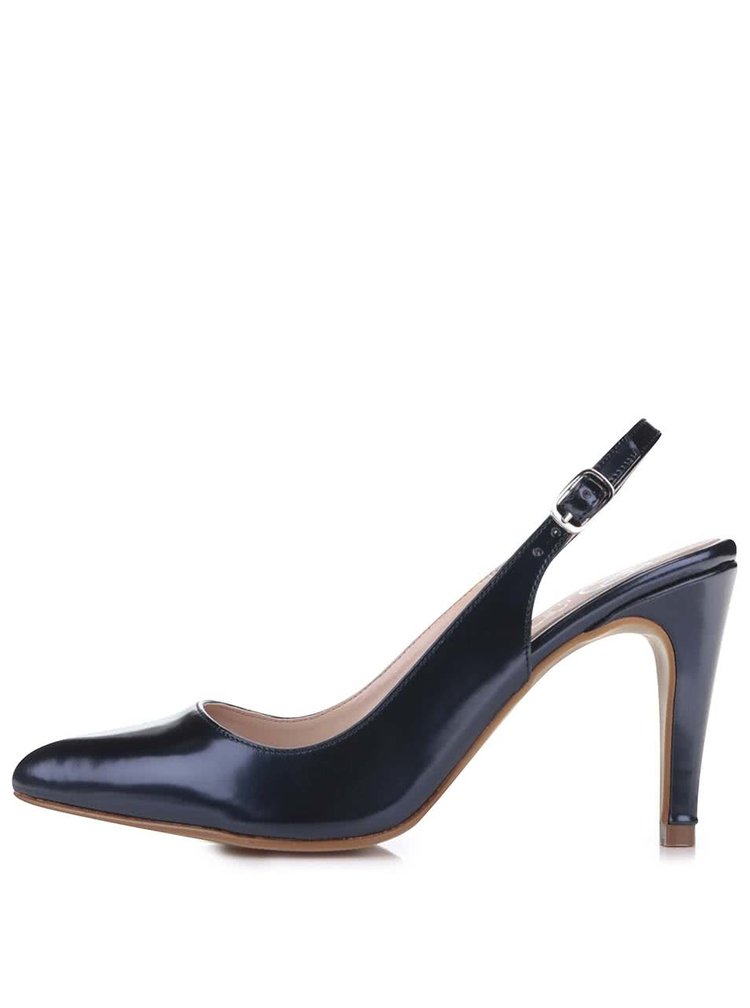 Pantofi OJJU albastru închis decupați