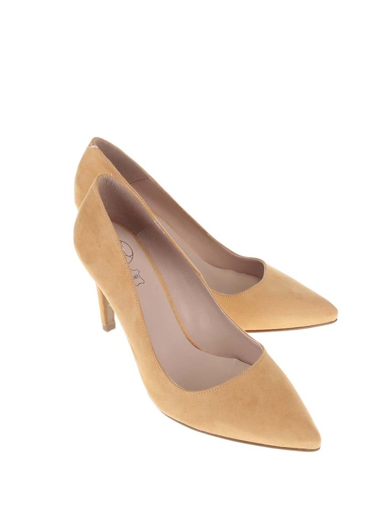 Pantofi cu toc OJJU galben închis