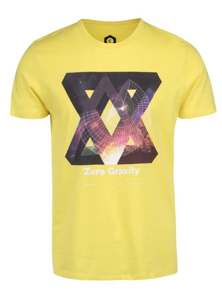 Žlté tričko s potlačou Jack & Jones Star