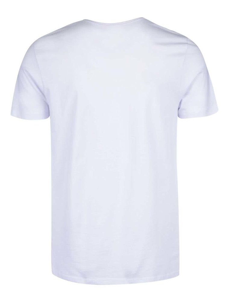 Bílé triko s potiskem Jack & Jones Star