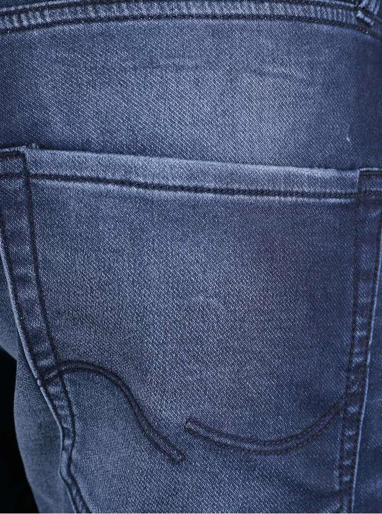 Pantaloni scurti Jack & Jones Rick albastri, din denim