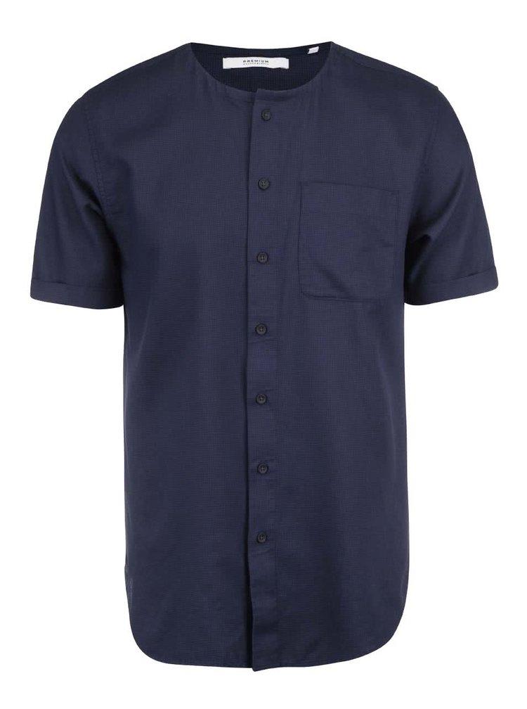 Tmavomodrá košeľa s krátkym rukávom Jack & Jones Aiden