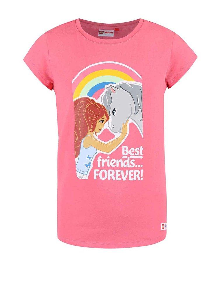 Růžové holčičí tričko LEGO wear Tamara