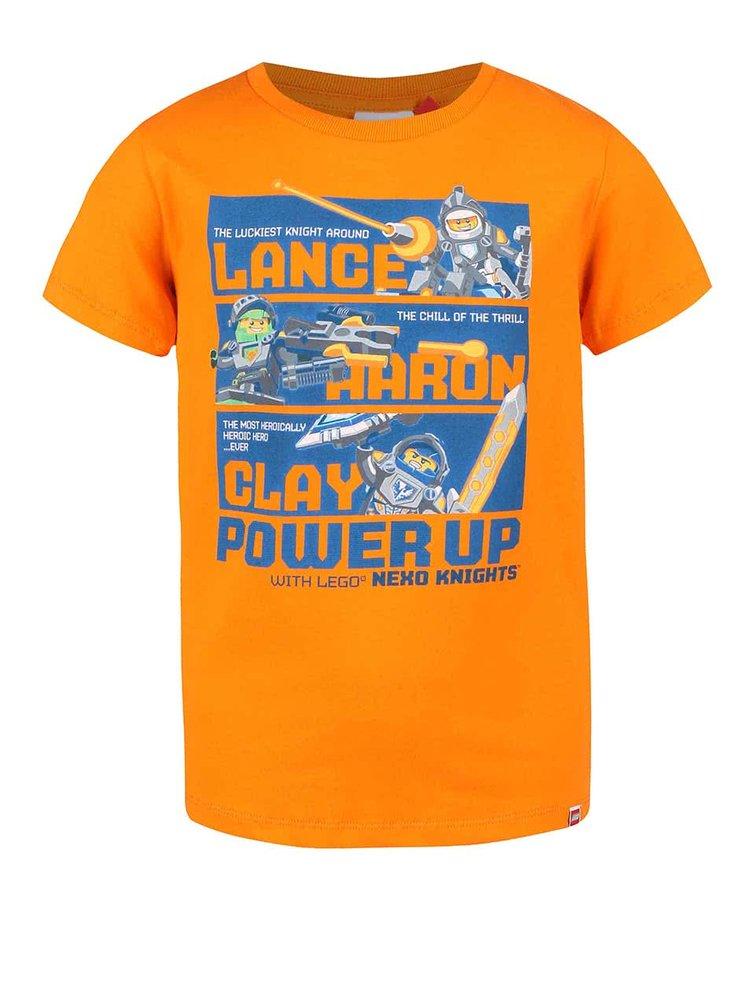 Oranžové chlapčenské tričko LEGO Wear Tony