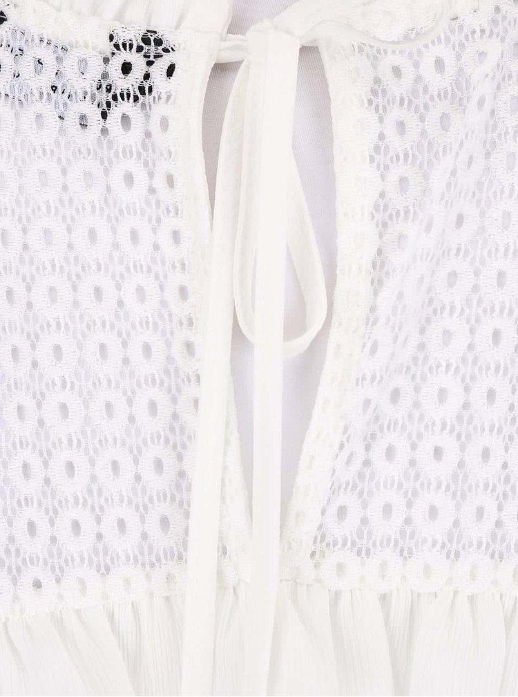 Biela blúzka s čipkou Dorothy Perkins