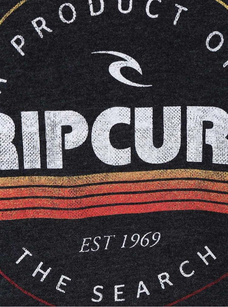 Tmavě šedá pánská slim fit mikina s nápisem Rip Curl Big Mama