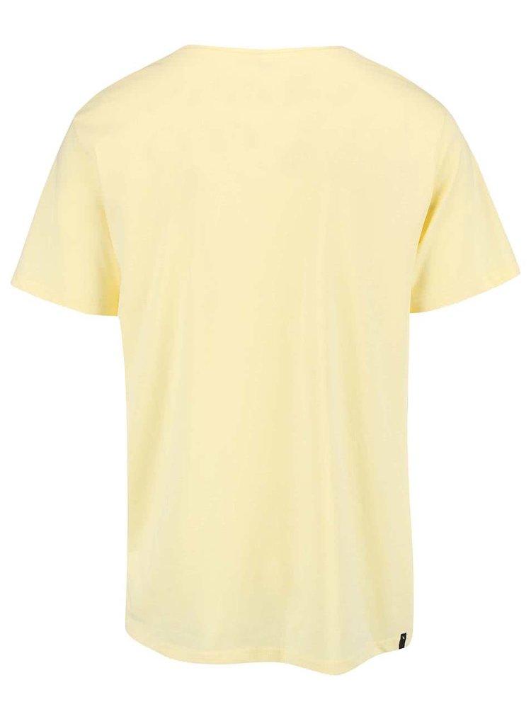 Žluté pánské slim fit triko Rip Curl Shred
