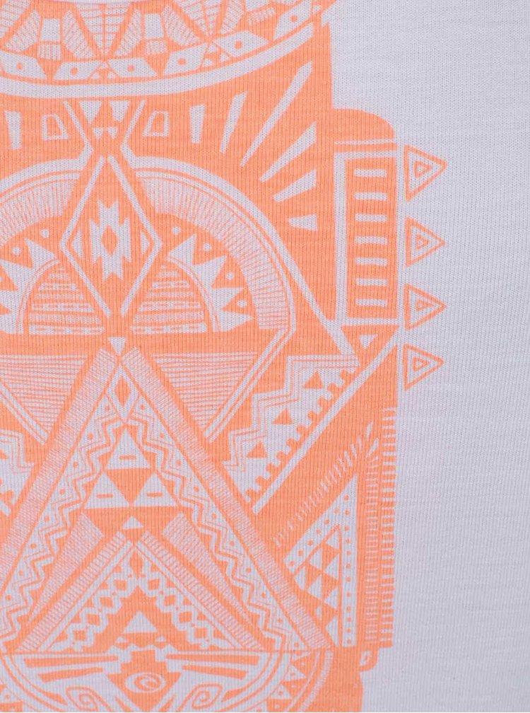 Bílé dámské tílko s aztéckým vzorem Rip Curl Soona