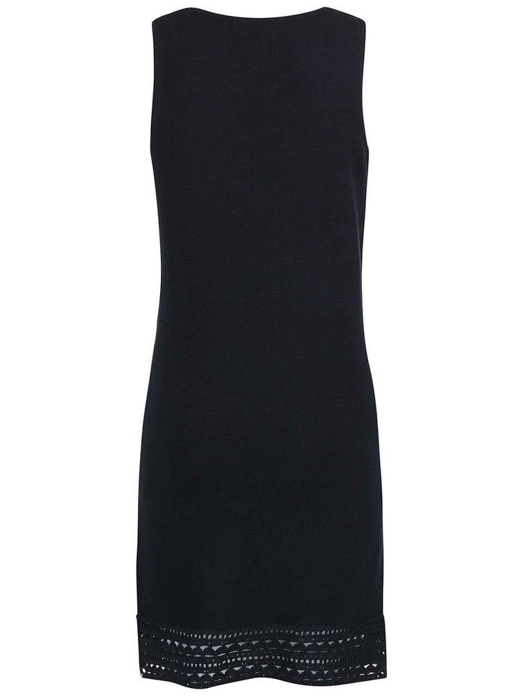 Tmavě modré šaty s perforovanými detaily Dorothy Perkins