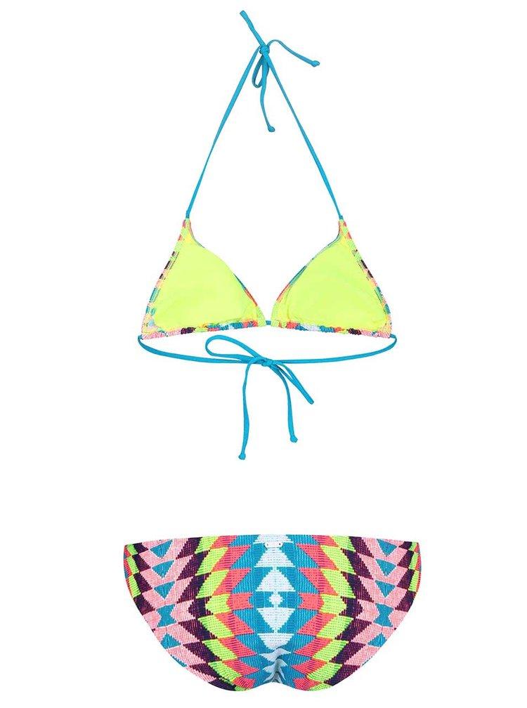 Barevné dvoudílné vzorované plavky Rip Curl Phoenix