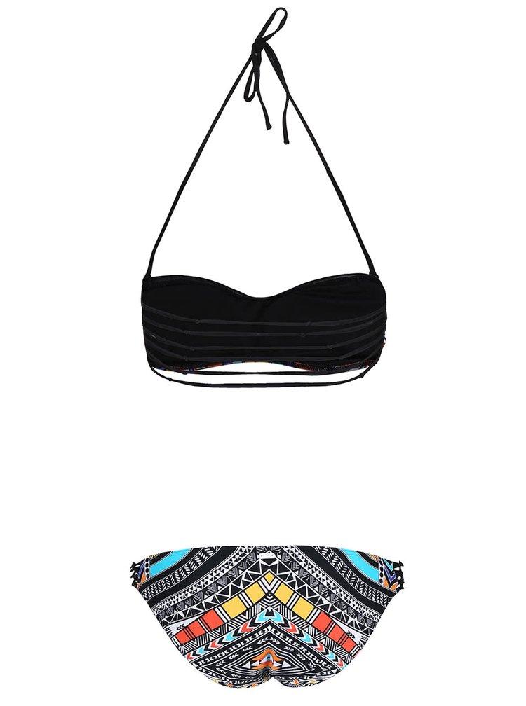 Černé dvoudílné vzorované plavky Rip Curl Tribal