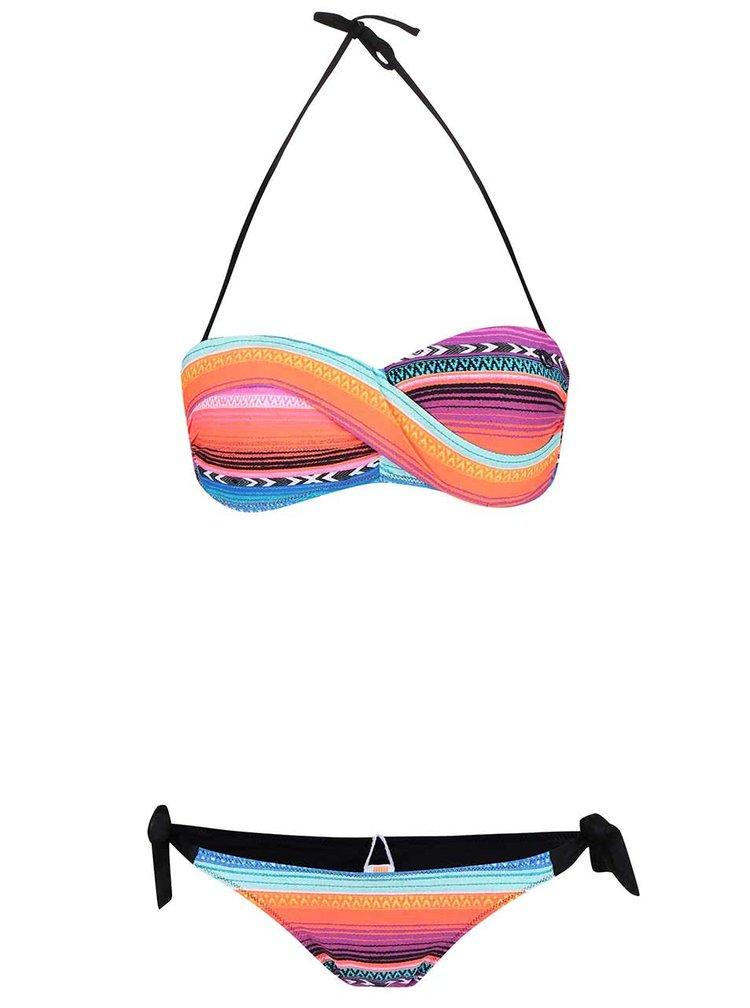 Modro-růžové dvoudílné vzorované plavky Rip Curl Lolita