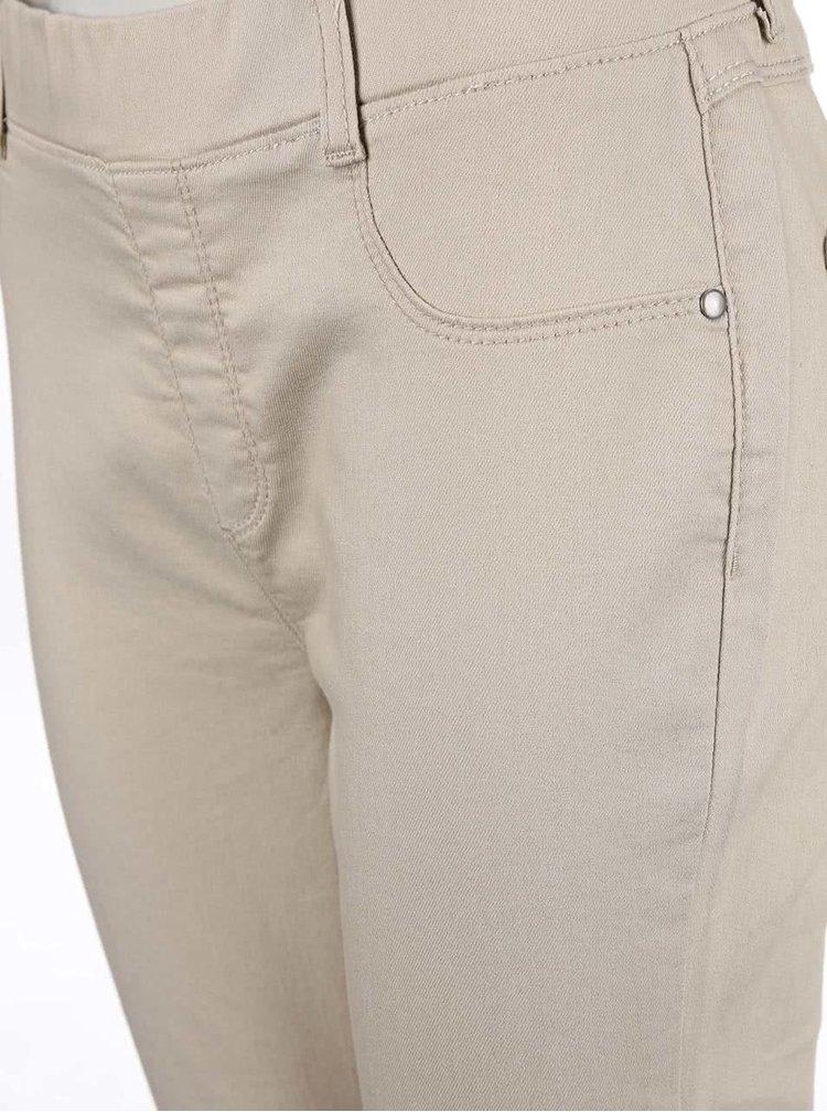 Béžové skinny kalhoty Dorothy Perkins
