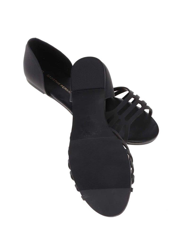 Černé sandálky s uzavřenou patou Dorothy Perkins