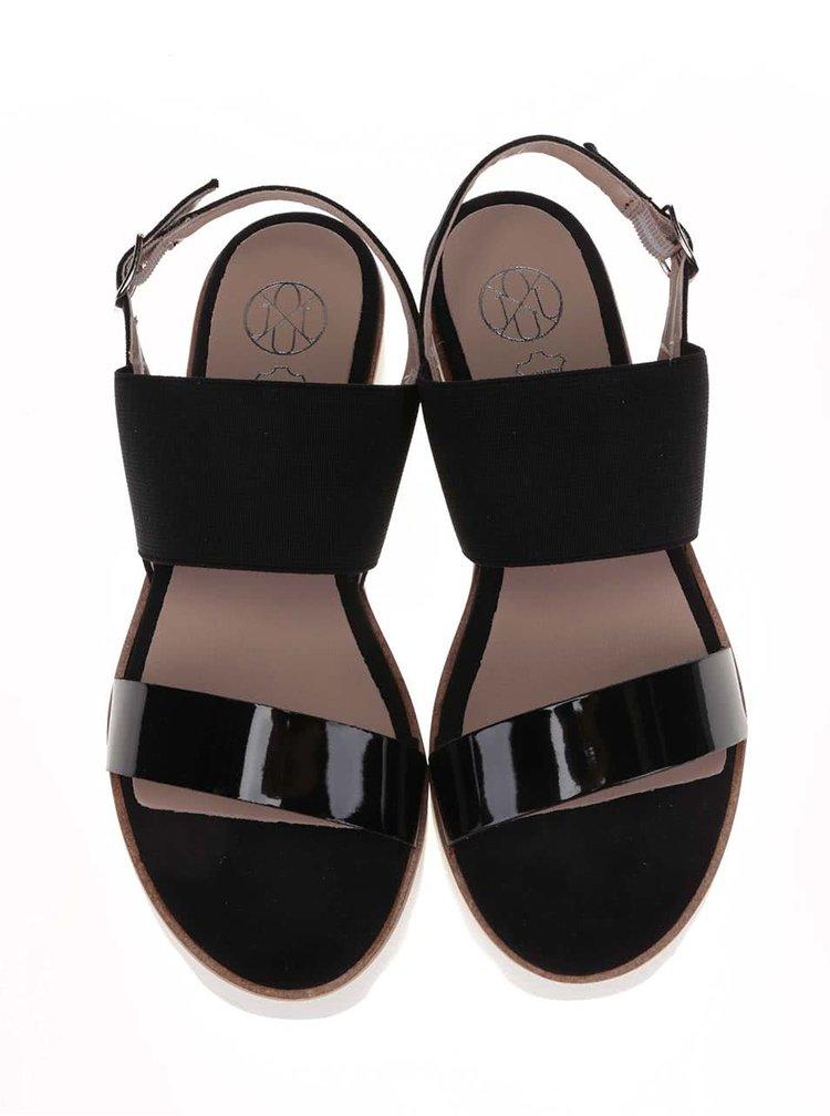 Čierne sandále na platforme OJJU