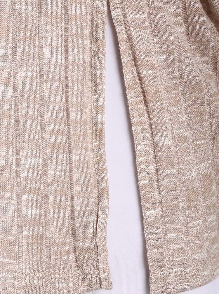 Béžový kardigan s krátkym rukávom Dorothy Perkins Petite