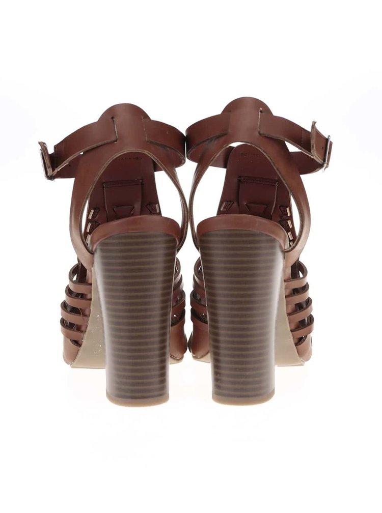 Sandale Dorothy Perkins maro cu toc