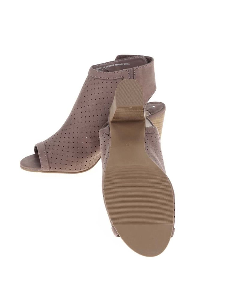 Béžové sandály na podpatku Dorothy Perkins