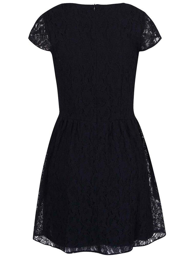Tmavomodré čipkované šaty ONLY Marun