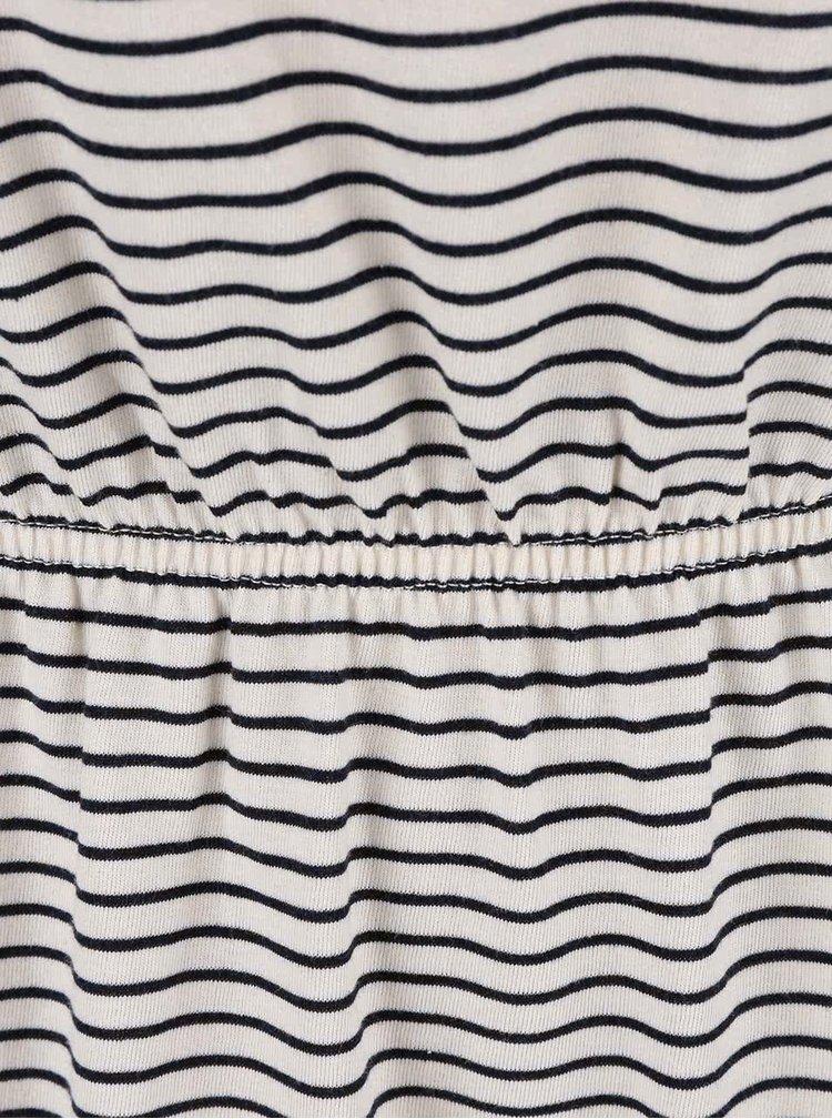 Krémovo-modré pruhované šaty ONLY Carla
