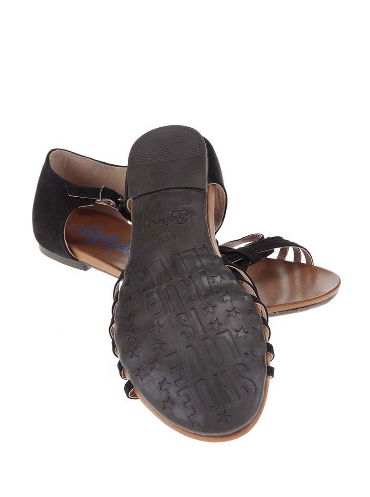 Čierne sandále Refresh