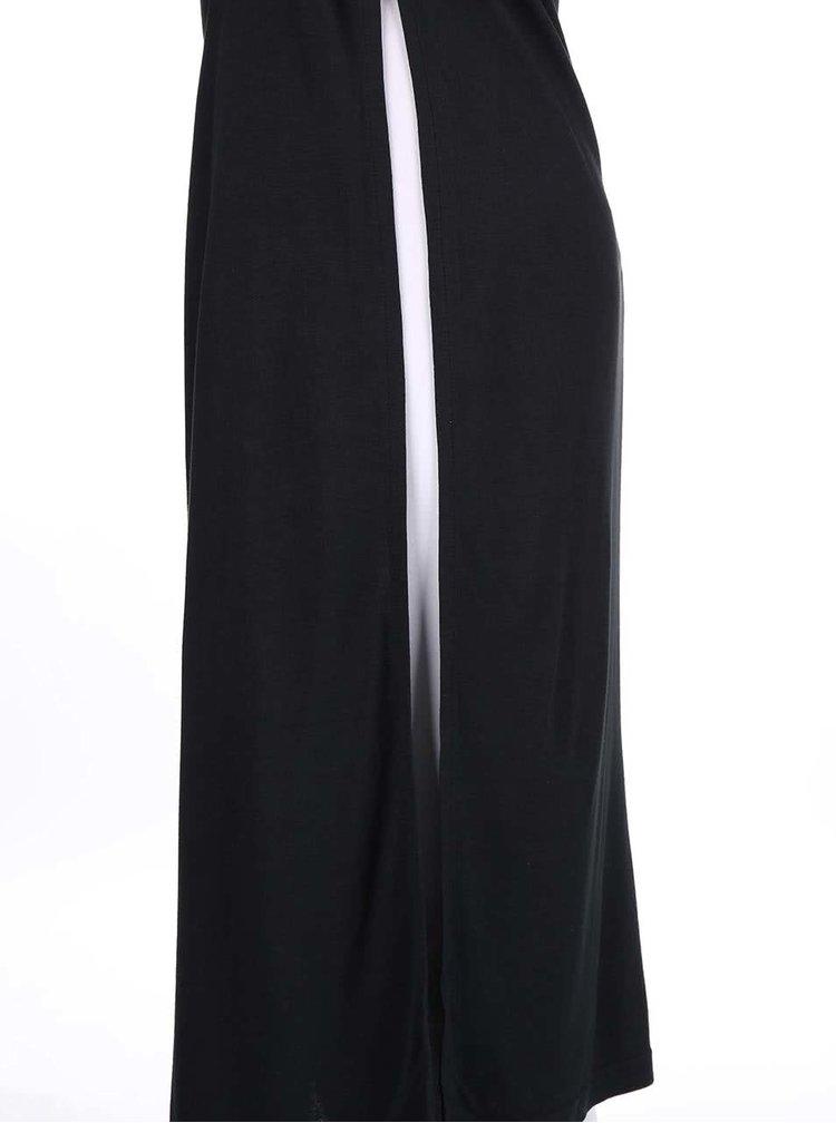 Černé dlouhé šaty s průstřihy na zádech Bench Actingout