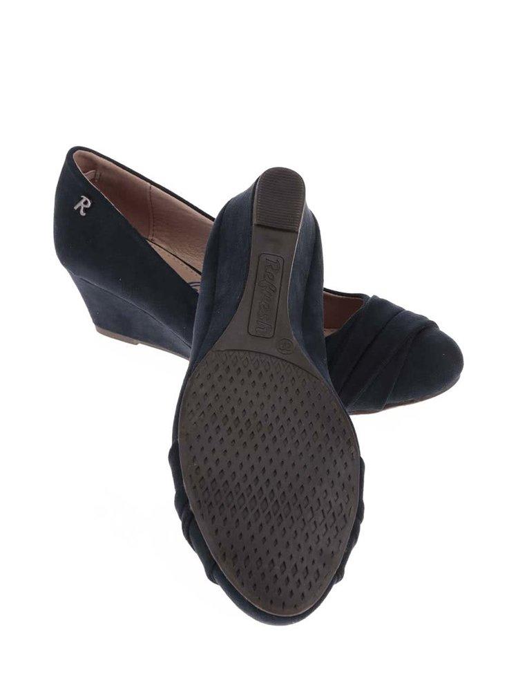 Tmavě modré boty na klínku Refresh