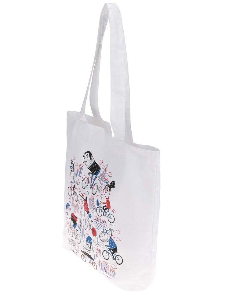 """""""Dobrá"""" bílá plátěná taška pro Automat"""