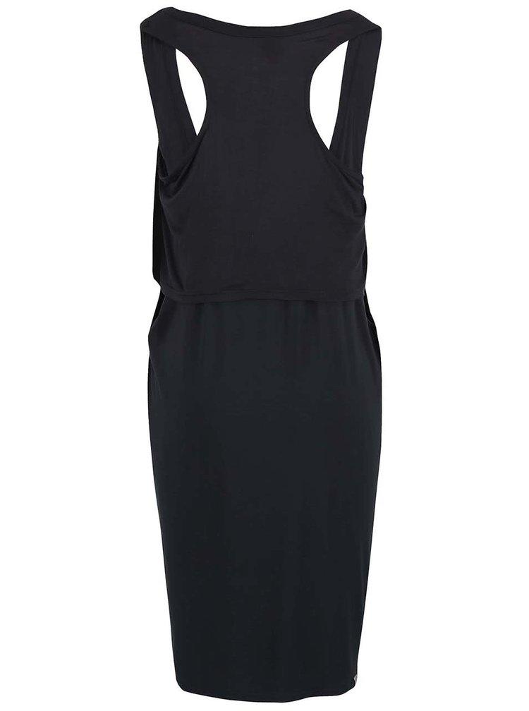 Čierne šaty s prestrihmi Bench Wrapandfold