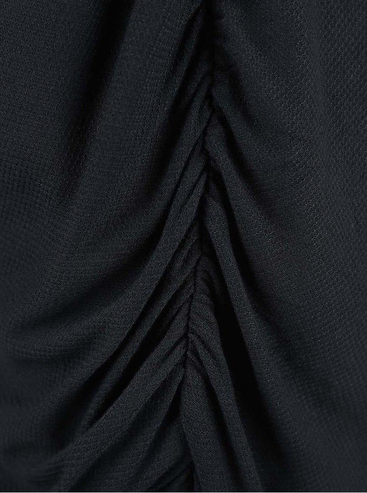 Černé šaty s řasením Bench Wrapandfold