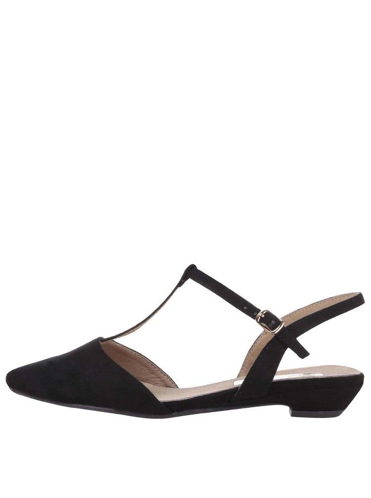Sandale Xti negre cu varf ascuțit