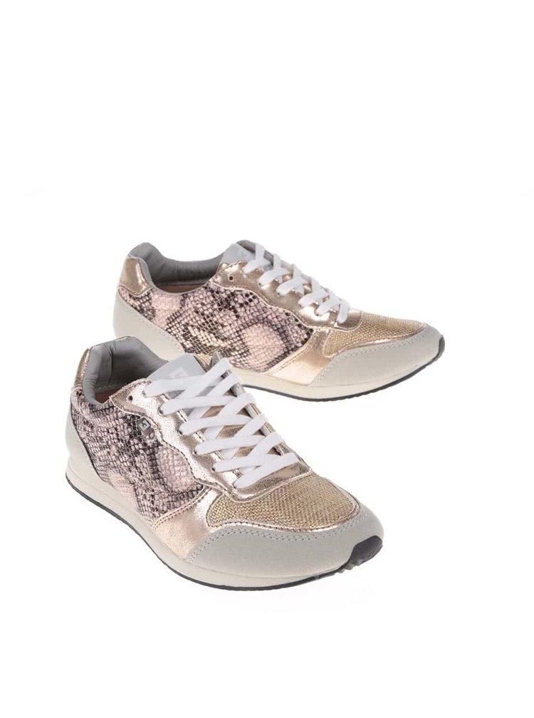 Pantofi sport Bassed gri cu imprimeu