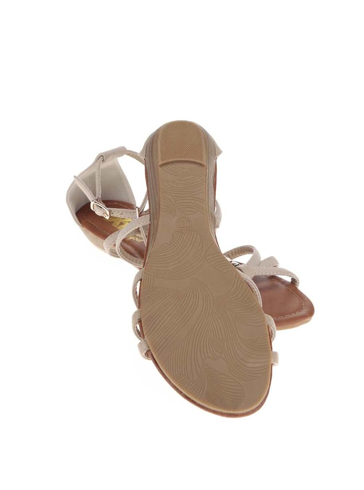 Béžové sandálky s ozdobnou aplikáciou Xti