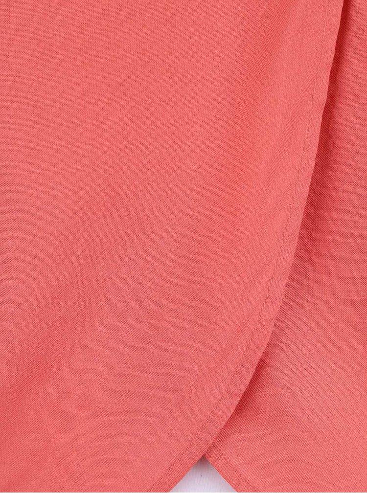 Růžová halenka se střapci ONLY Kasia