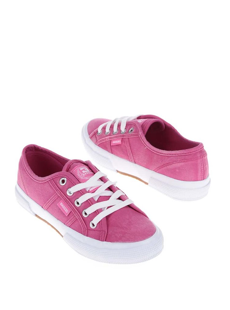 Tmavě růžové dámské tenisky Bassed