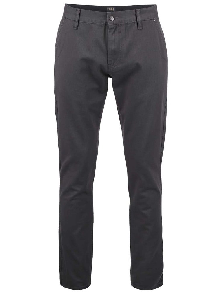 Sivé nohavice !Solid Mak