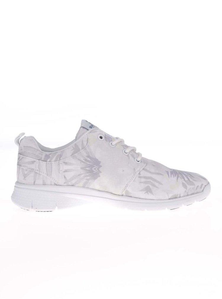 Pantofi sport Bassed albi cu imprimeu